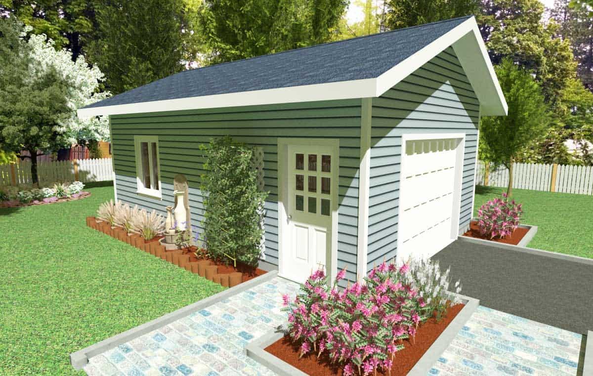 Poplar 16 X 24 Gable Roof Garage Kit Kb Prefab