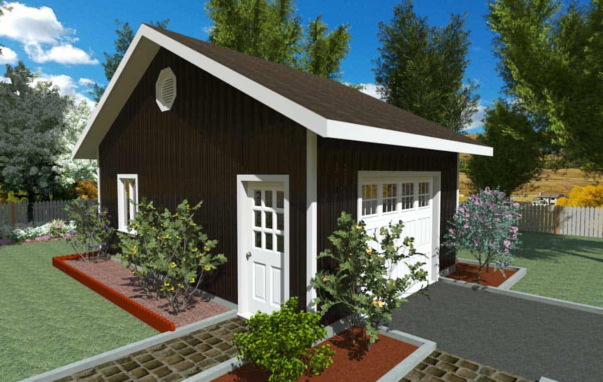 16x24 Gable Garage : ′ side gable roof garage kit kb prefab