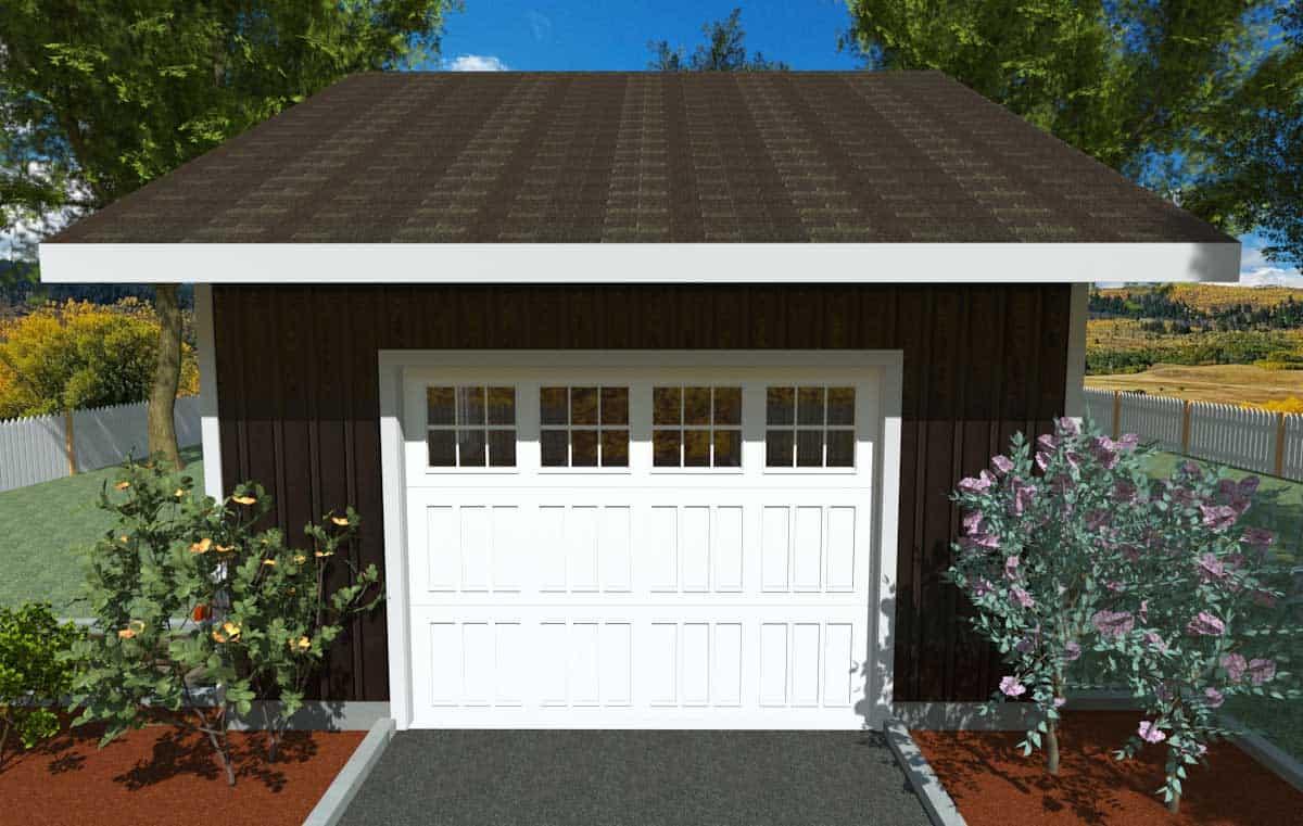 16 X 24 Side Gable Roof Garage Kit Kb Prefab
