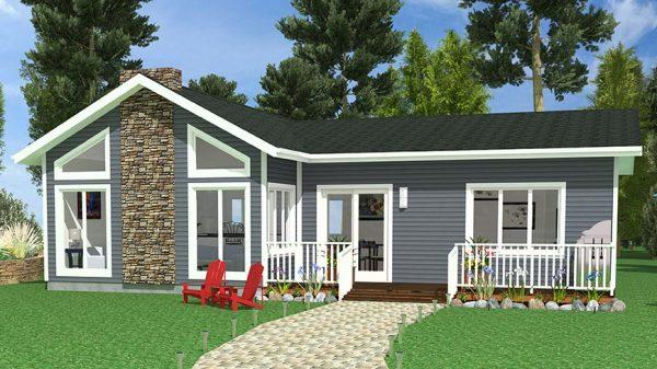 Blue Spruce Prefab Cottage Exterior