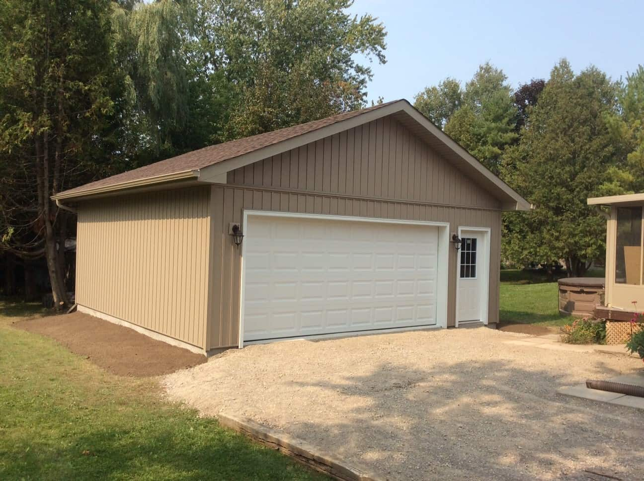 Extra Wide Single Car Garage built by KB Prefab