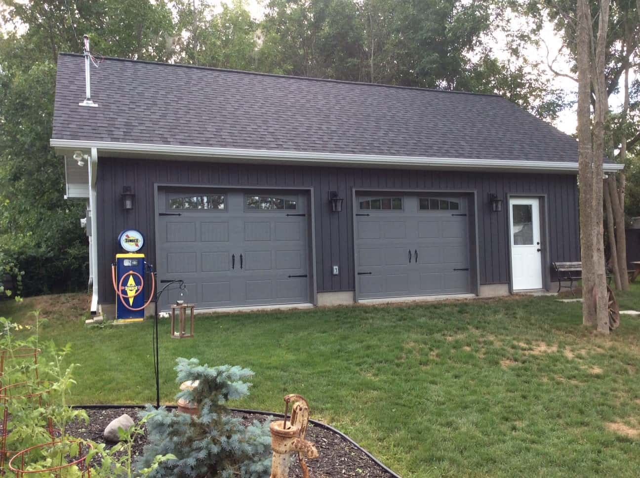 Double Car Garage and Shop built by KB Prefab
