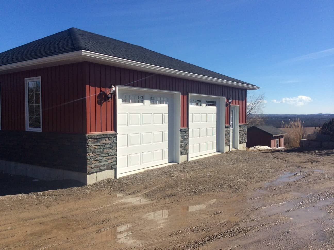 Large Double Car Garage built by KB Prefab